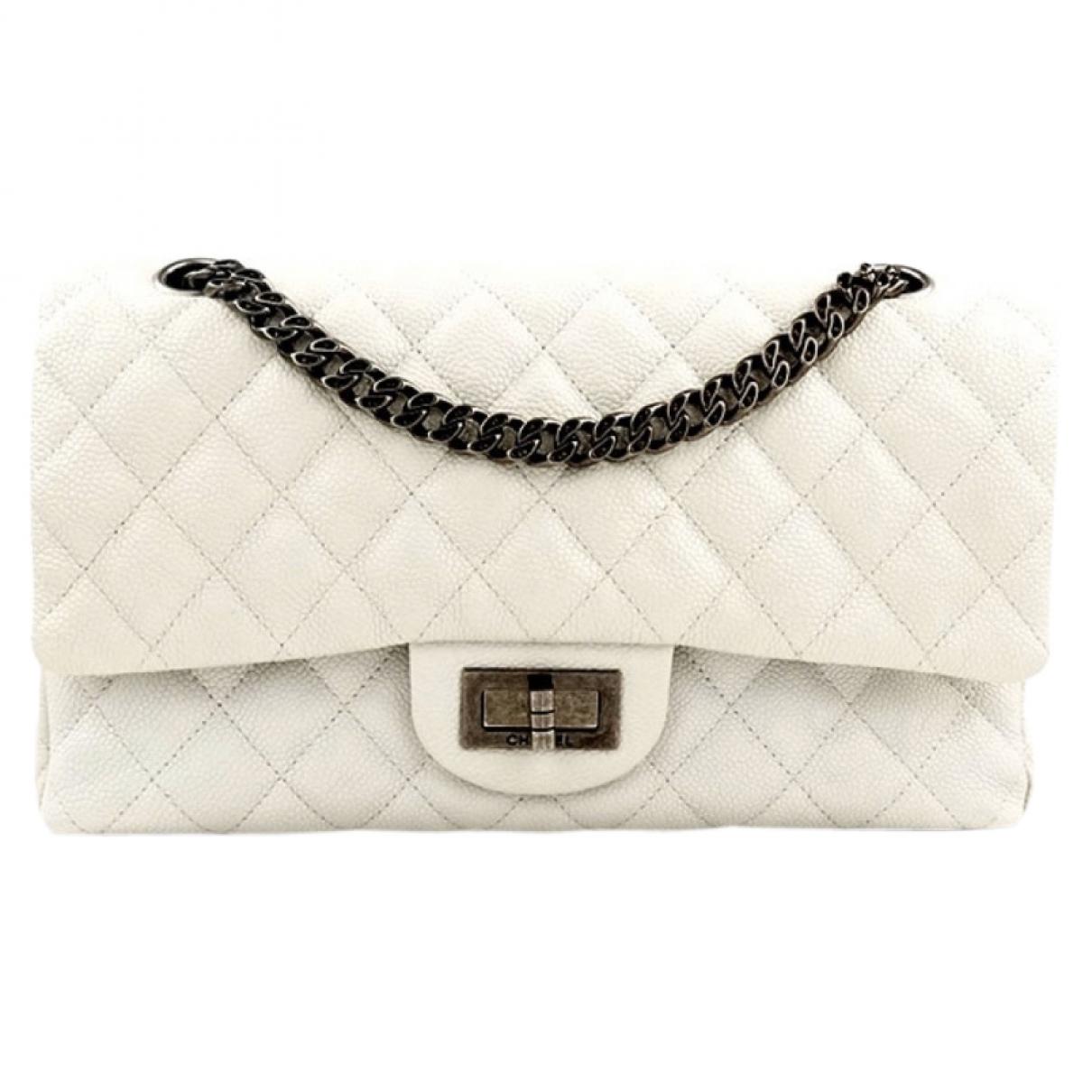 Chanel 2.55 White Leather handbag for Women \N