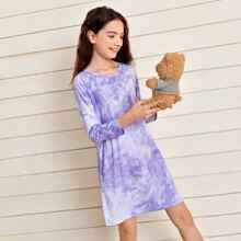 Nachtkleid mit Batik