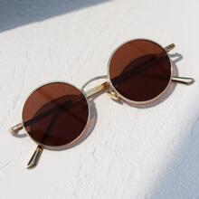Gafas de sol de marco metalico redondo