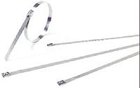 Thomas & Betts , Ty-Met Series Metallic 316 Stainless Steel Roller Ball Cable Tie, 520mm x 7.9 mm