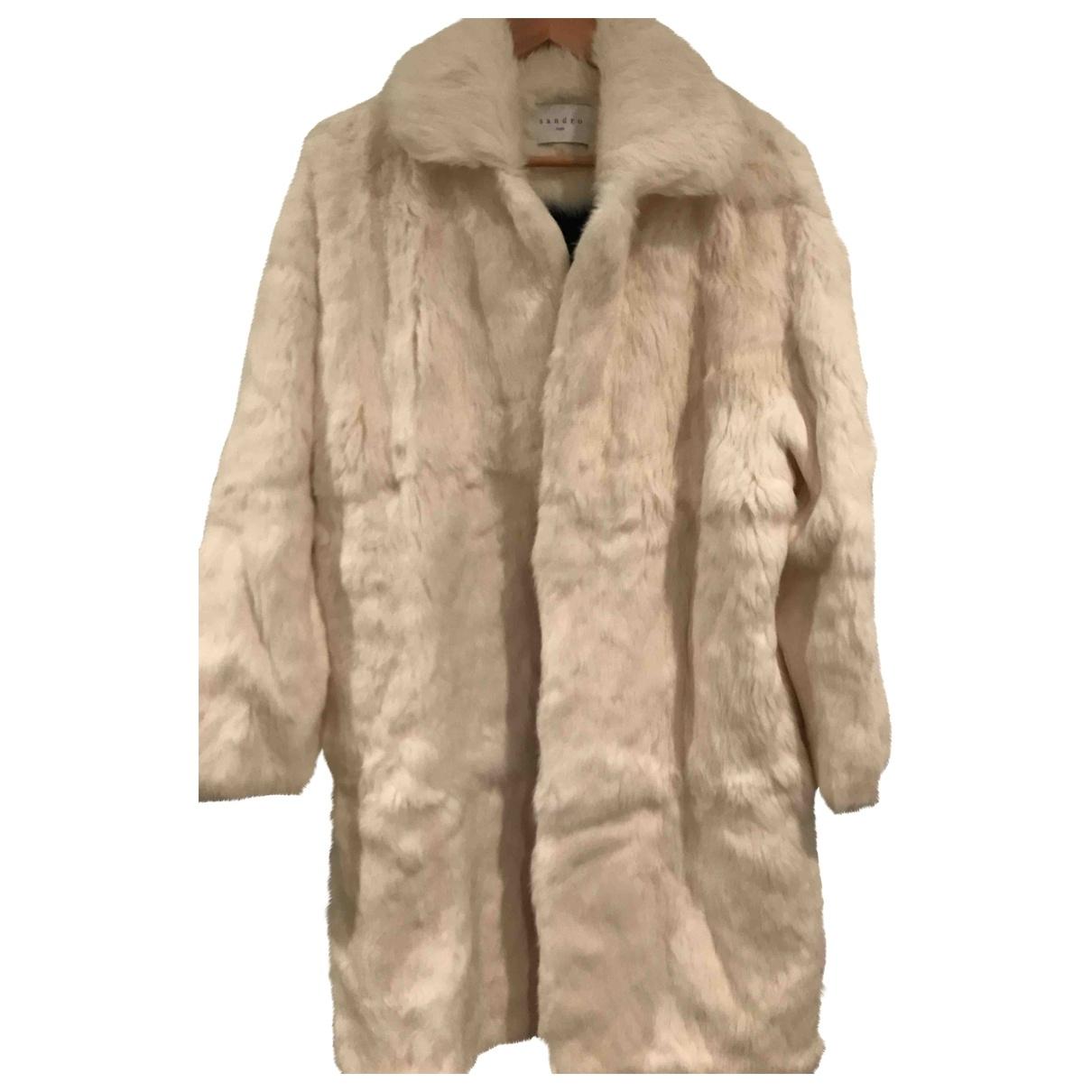 Sandro \N White Rabbit coat for Women 44 FR