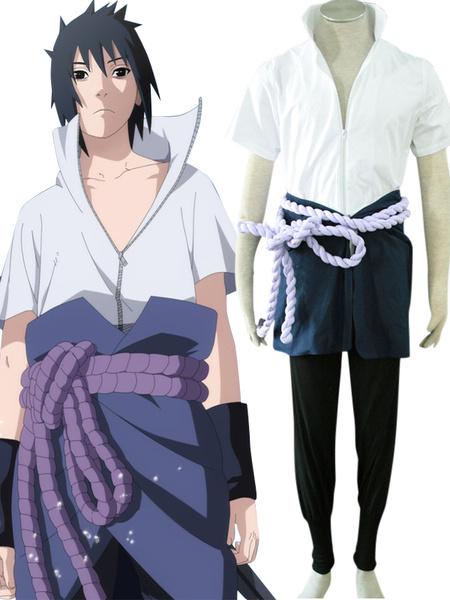 Milanoo Halloween Traje de Sasuke Uchiha para cosplay de Naruto