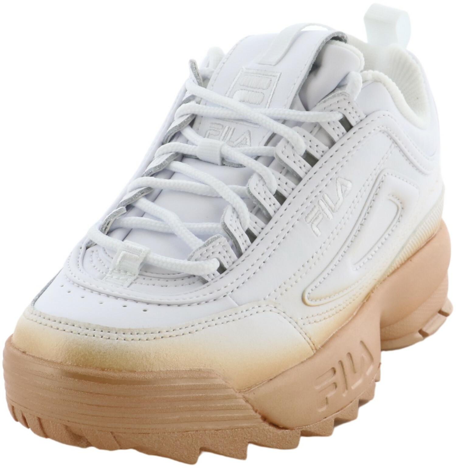 Fila Women's Disuptor Ii Brights Fade White / Rose Gold Ankle-High Sneaker - 5M