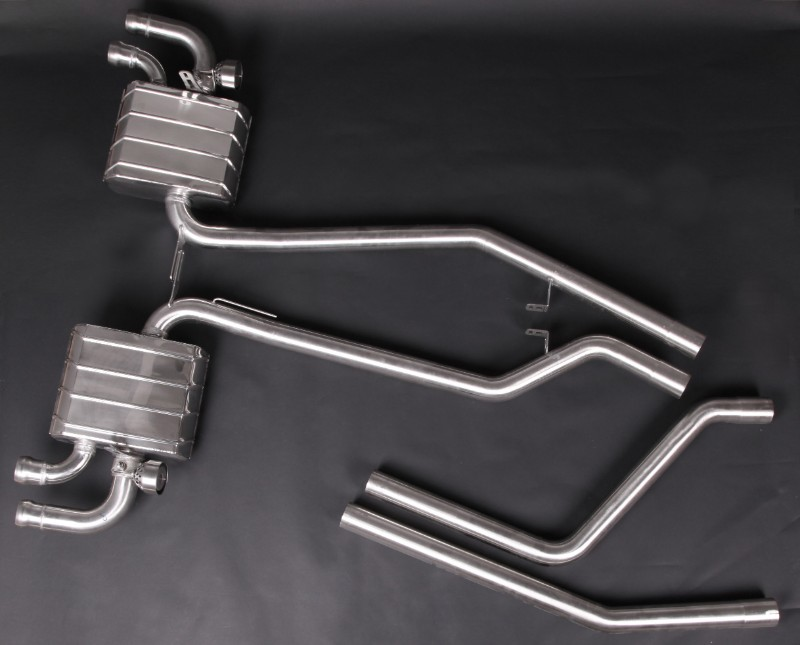 Capristo Exhaust 02PO07703001 Valved Exhaust System Mid-Pipes w/CES-3 Remote Porsche 958 Cayenne Turbo & Turbo S 16-18