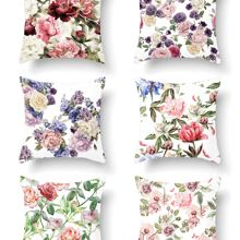 1 Stueck Kissen mit Blumen Muster