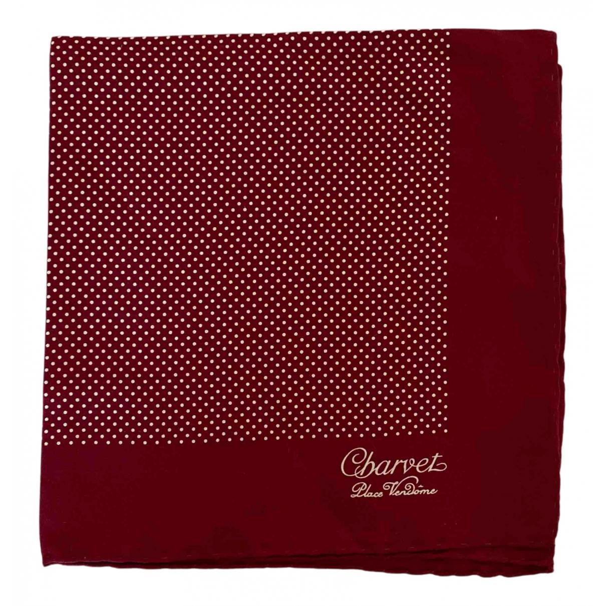 Charvet N Burgundy Silk scarf & pocket squares for Men N