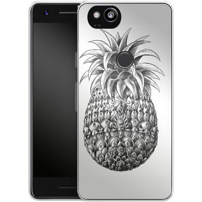 Google Pixel 2 Silikon Handyhuelle - Ornate Pineapple von BIOWORKZ