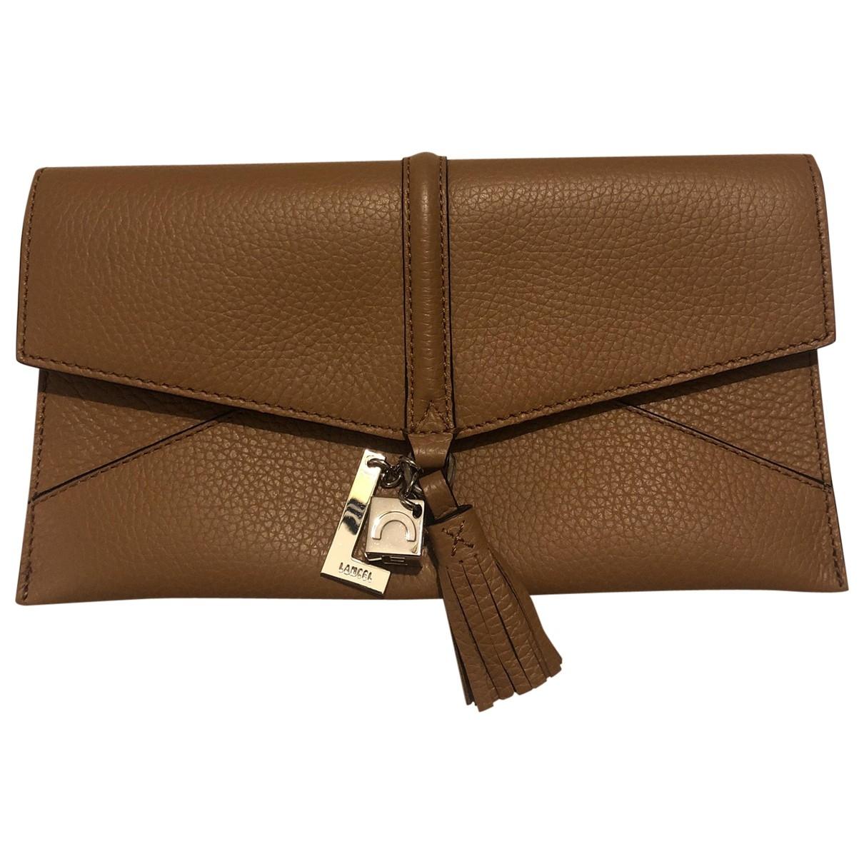 Lancel \N Brown Leather Clutch bag for Women \N