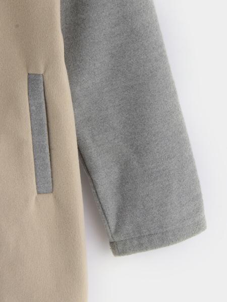 Yoins Khaki & Grey Single Breasted Design Long Sleeves Coat