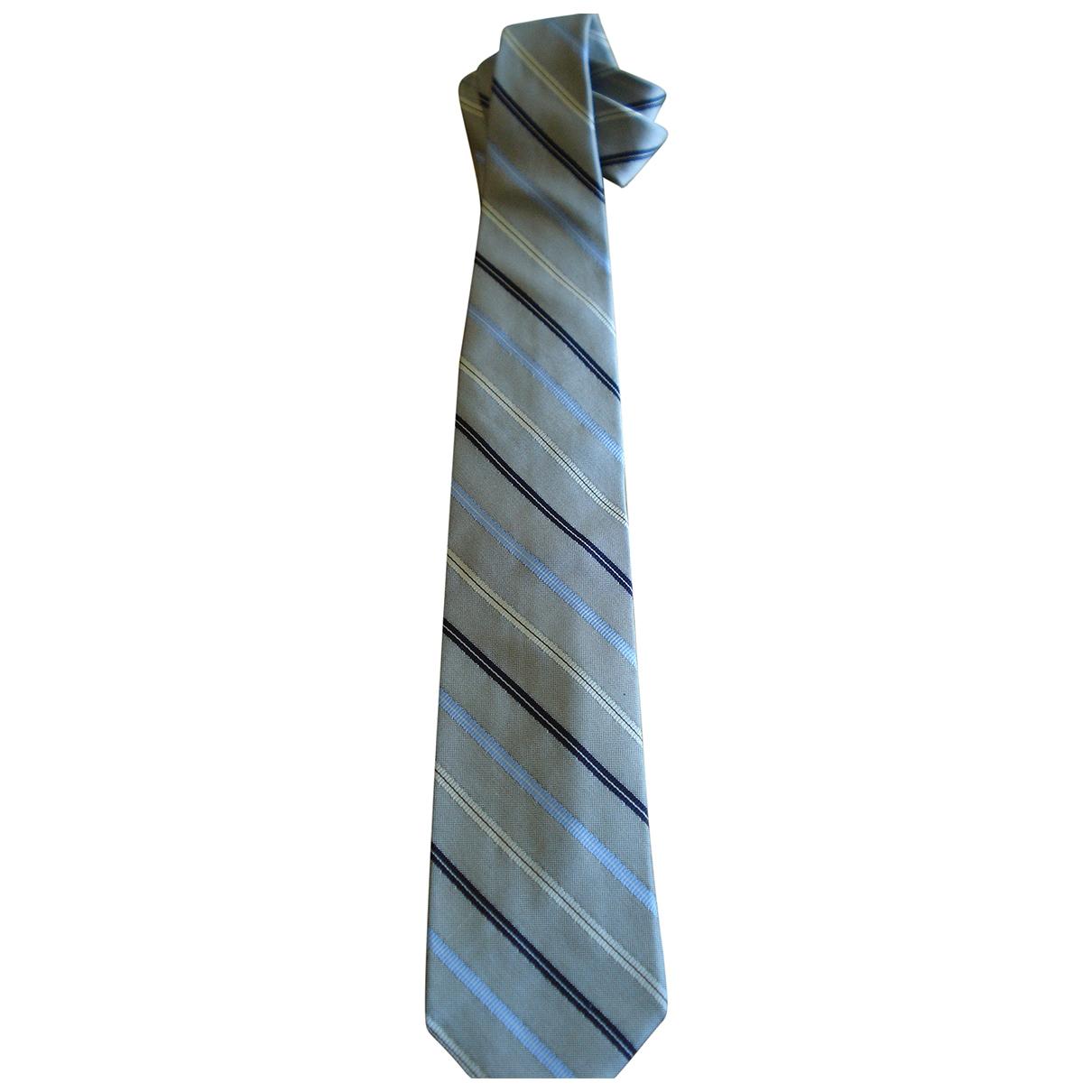 Breuer \N Krawatten in  Grau Seide
