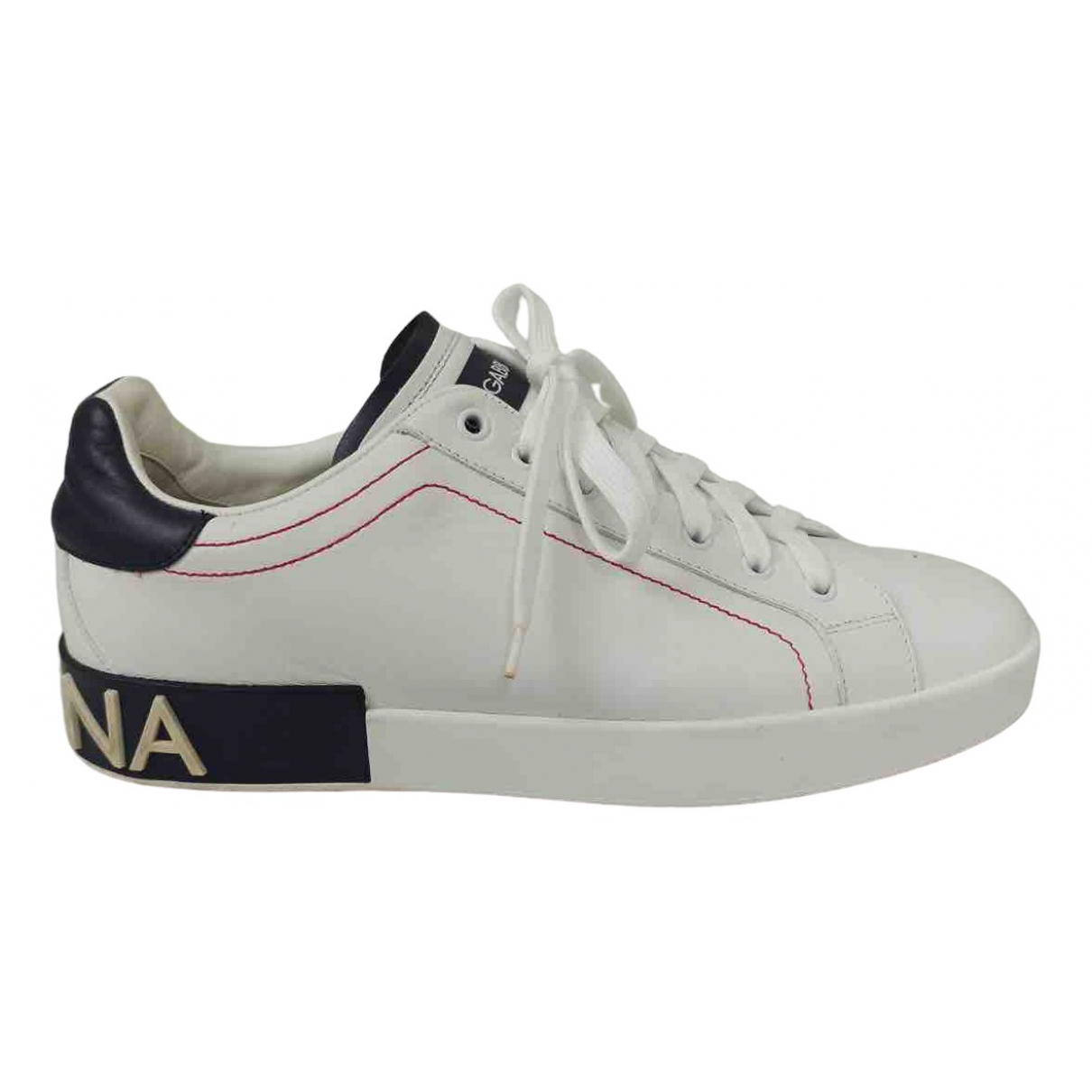 Dolce & Gabbana \N White Leather Trainers for Men 42.5 EU