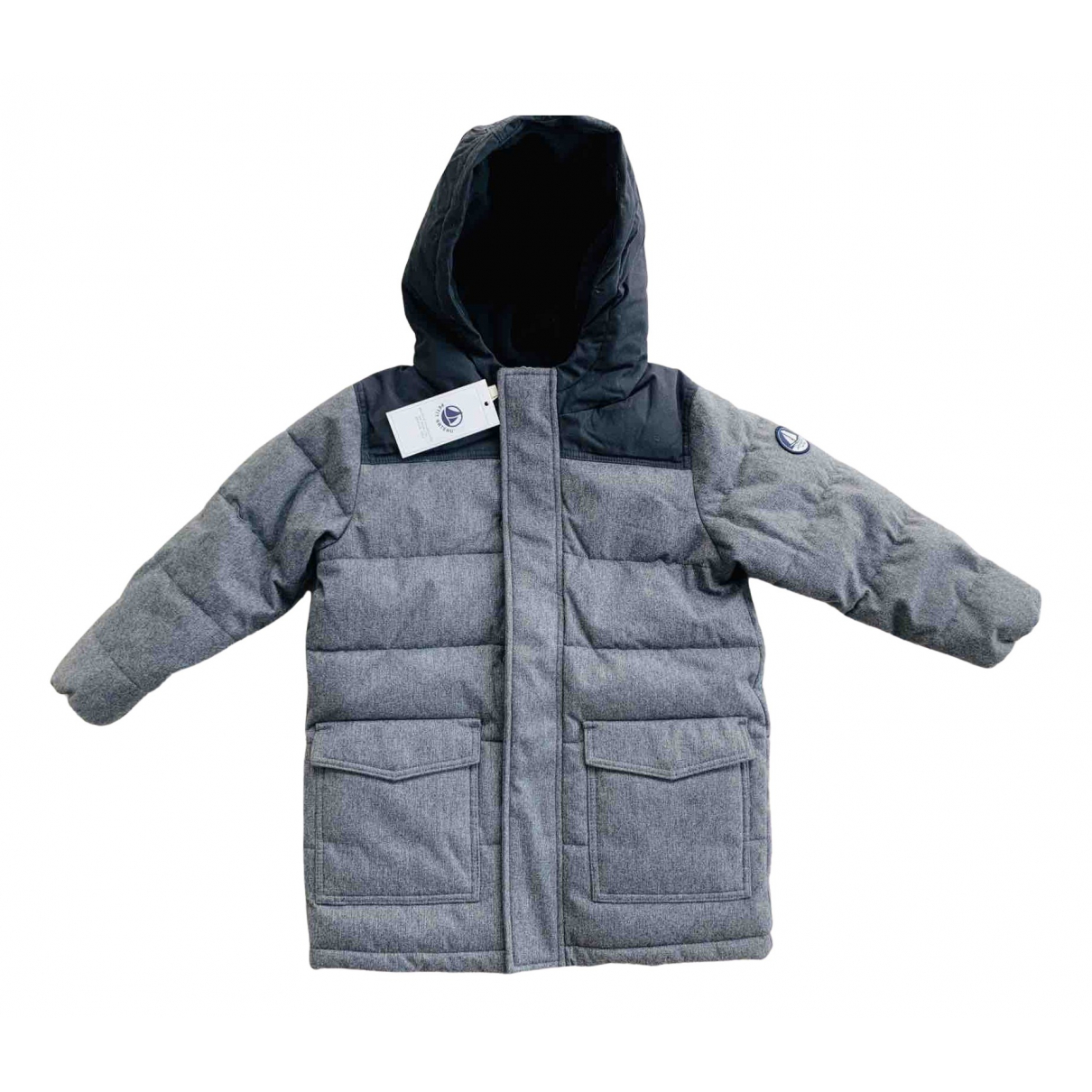 Petit Bateau N Grey jacket & coat for Kids 4 years - up to 102cm FR