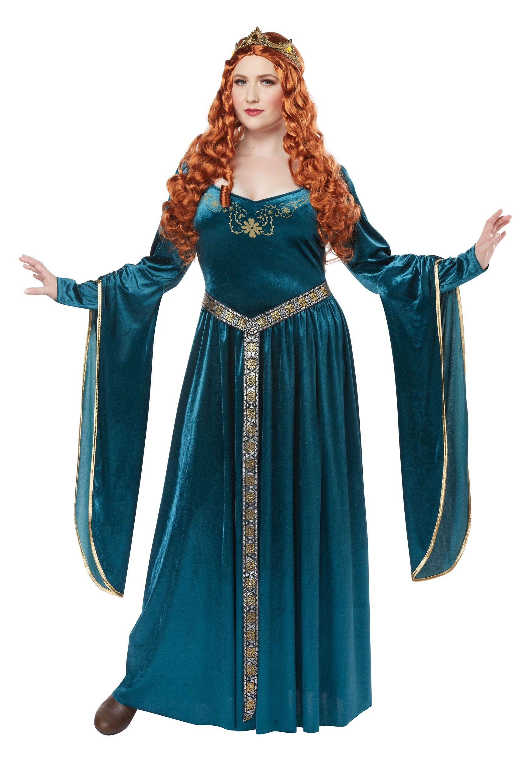 Lady Guinevere Teal Women's Plus Size Costume