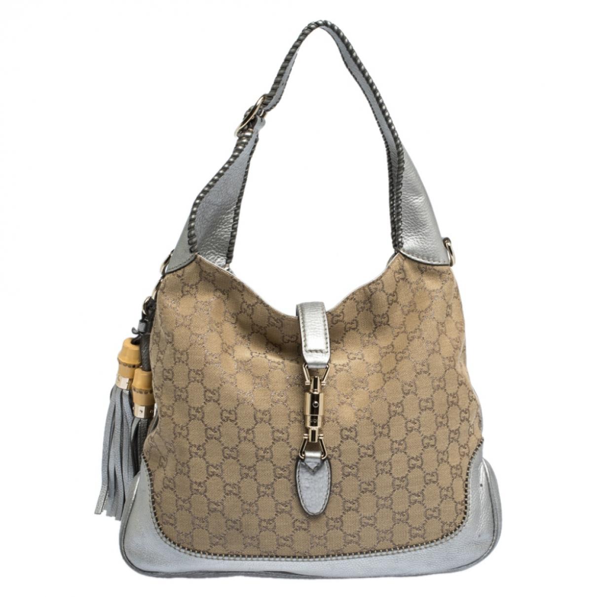 Gucci Jackie Beige Leather handbag for Women N