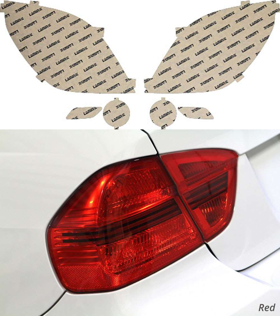 Saturn Vue 08-09 Red Tail Light Covers Lamin-X ST207R