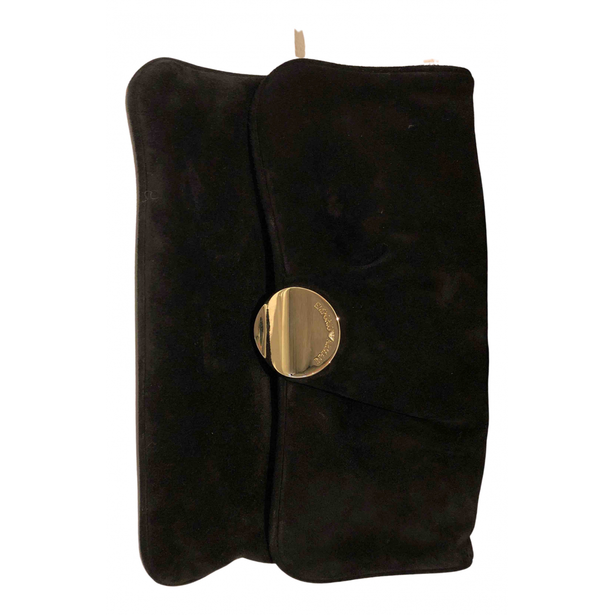 Emporio Armani N Black Suede Clutch bag for Women N