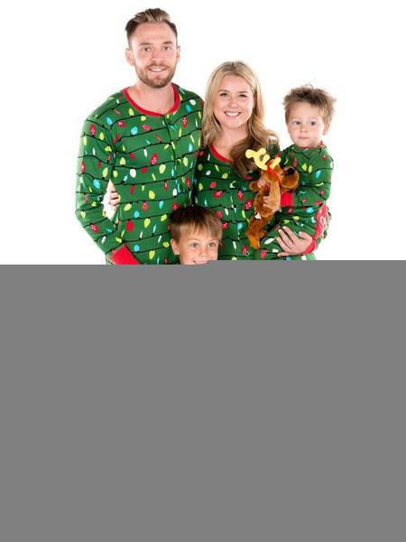 Milanoo Christmas Men\'s Jumpsuit Green Cotton Blend Cotton Christmas Pattern Christmas Holidays Costumes
