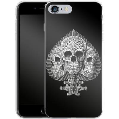 Apple iPhone 6 Plus Silikon Handyhuelle - Skull Spade von BIOWORKZ