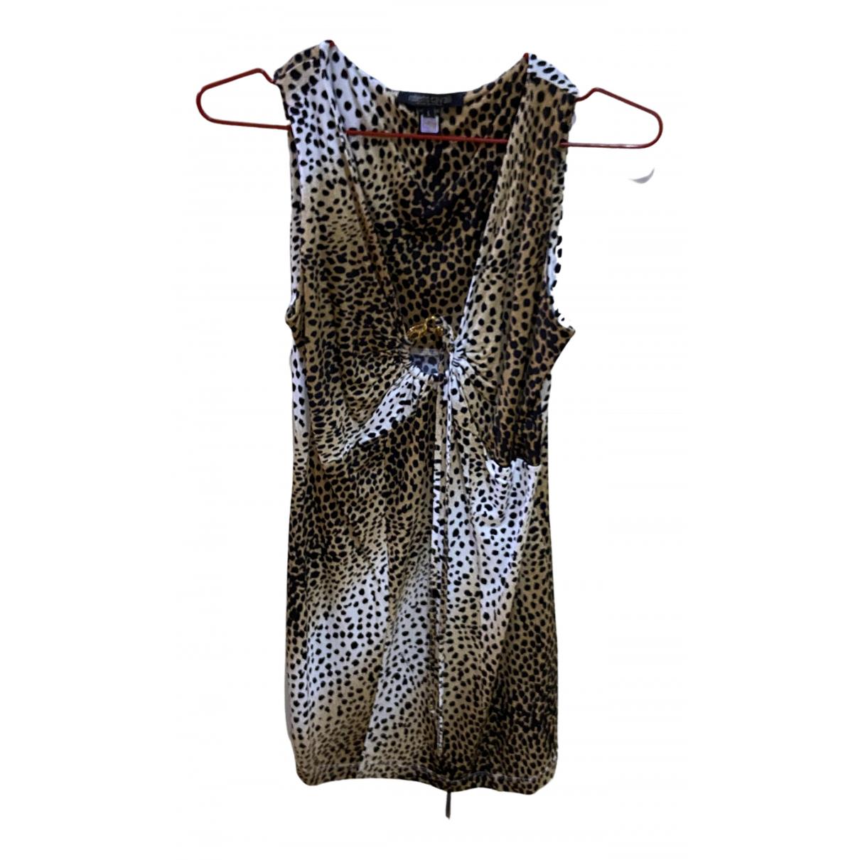 Roberto Cavalli \N Kleid in  Braun Viskose