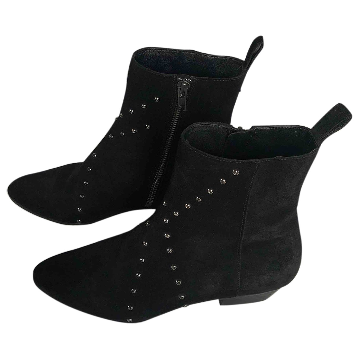 Iro \N Black Suede Ankle boots for Women 37 EU