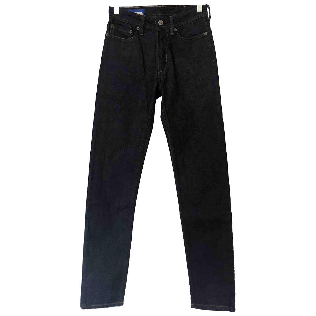 Acne Studios Blå Konst Blue Denim - Jeans Jeans for Women 34 FR