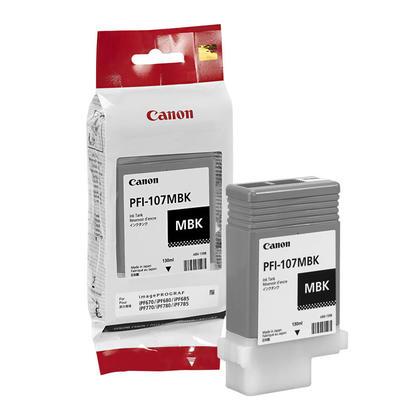 Canon PFI-107MBK 6704B001AA cartouche dencre originale noire mat pigment