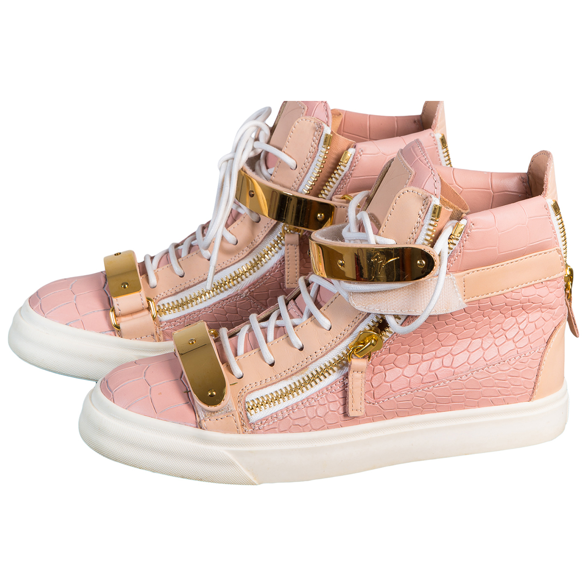 Giuseppe Zanotti \N Pink Leather Trainers for Women 37 EU