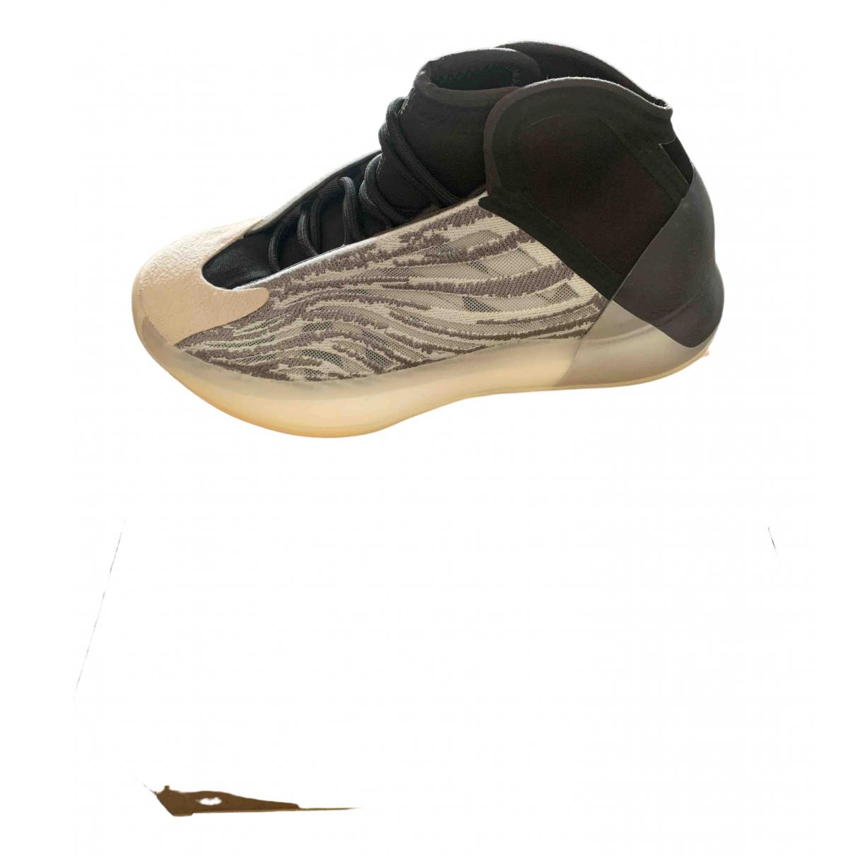 Yeezy X Adidas - Baskets QNTM BSKTBL pour femme en suede - beige