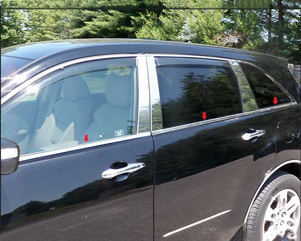 Quality Automotive Accessories 6-Piece Window Sill Trim Acura MDX 2013