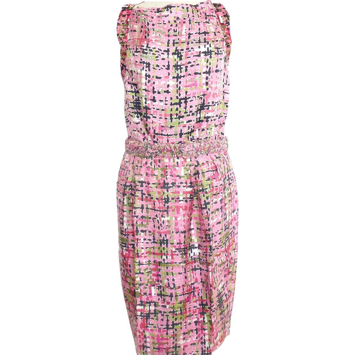 Vestido midi de Seda Yves Saint Laurent