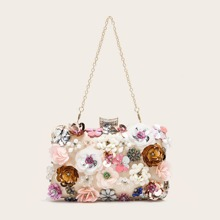 Floral Decor Clip Top Box Bag