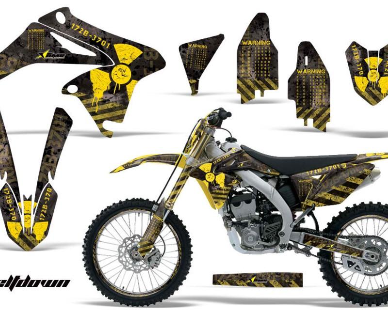 AMR Racing Graphics MX-NP-SUZ-RMZ250-10-16-MD Y K Kit Decal Sticker Wrap + # Plates For Suzuki RMZ250 2010-2016áMELTDOWN YELLOW BLACK