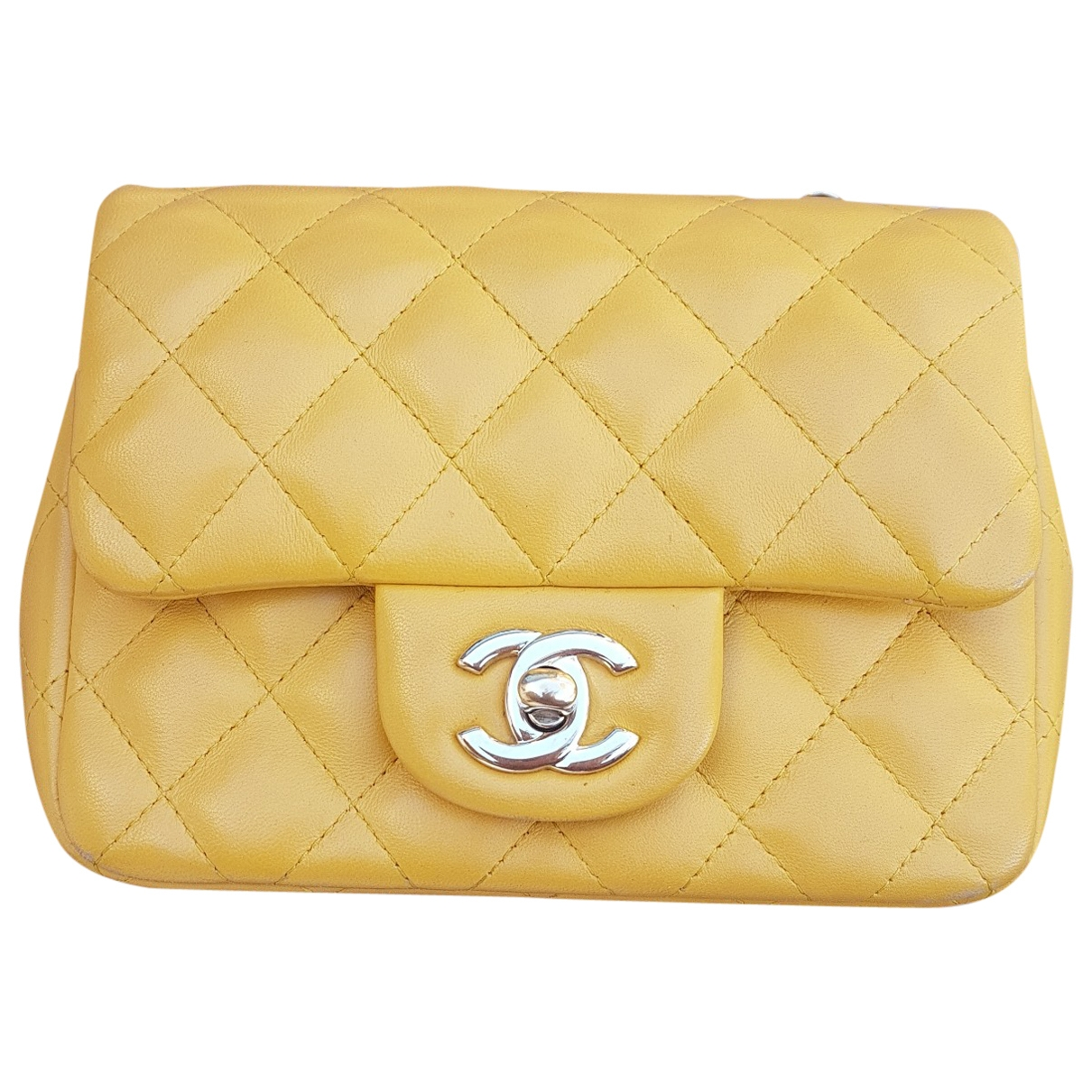 Chanel Timeless/Classique Yellow Leather handbag for Women \N