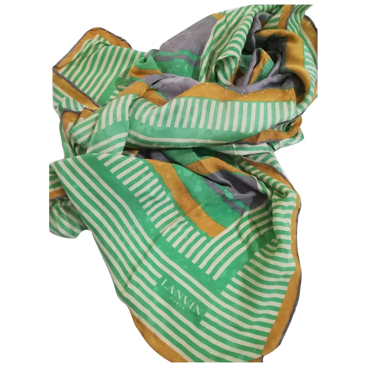 Lanvin \N Green Silk scarf for Women \N