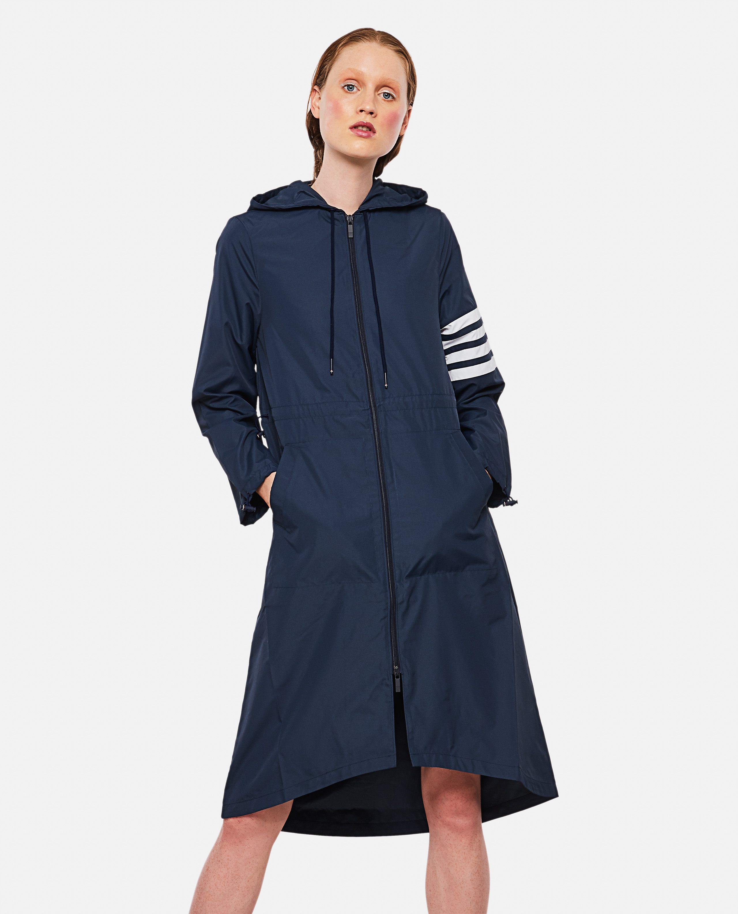 Parka with stripes