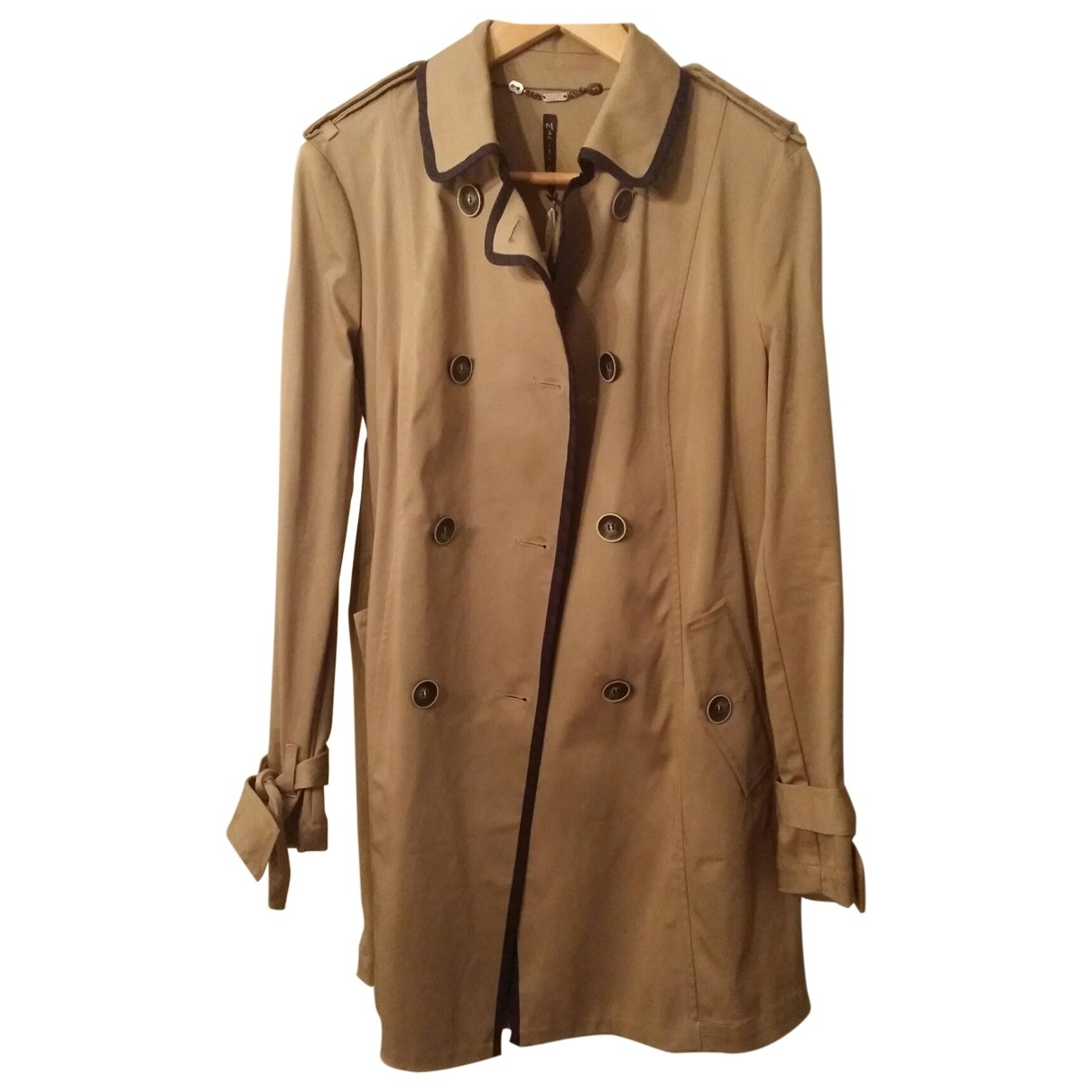Non Signé / Unsigned \N Beige Cotton Trench coat for Women 42 FR