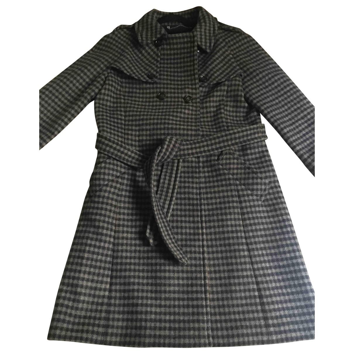 Max Mara Weekend - Manteau   pour femme en laine - bleu