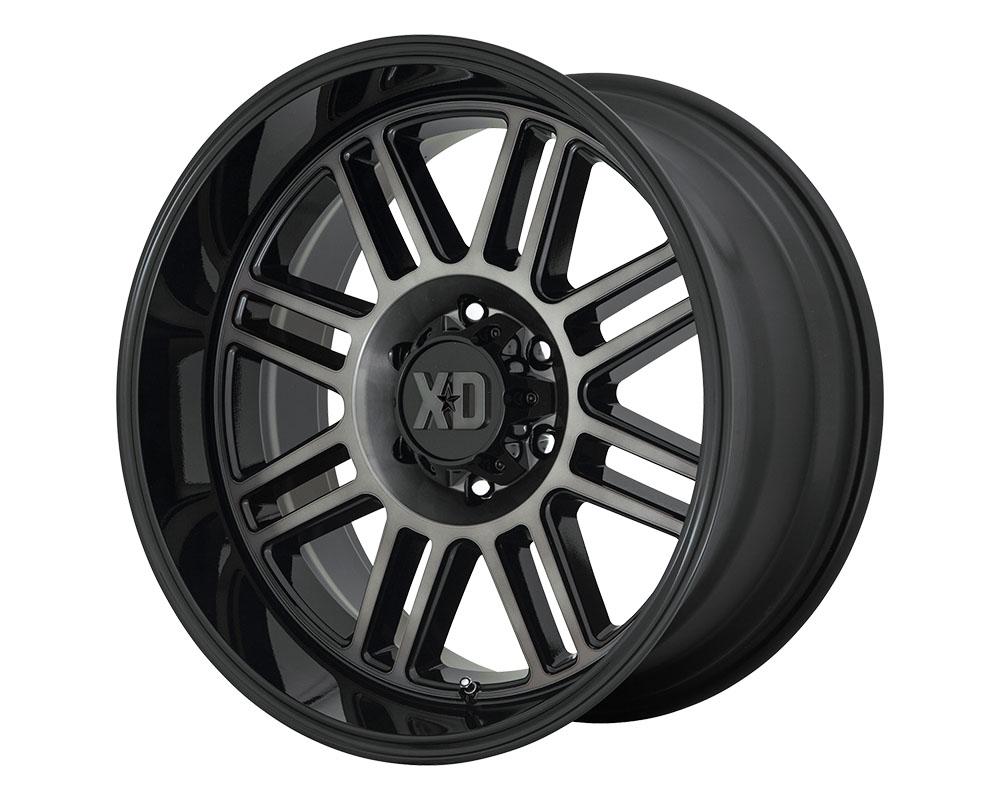 XD Series XD85029088400 XD850 Cage Wheel 20x9 8x8x180 +0mm Gloss Black w/Gray Tint