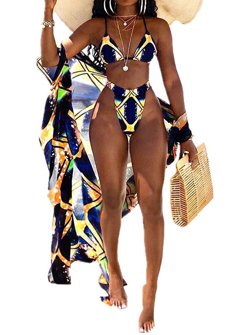 Ericdress Color Block Tankini Set Stretchy Fashion Swimsuit