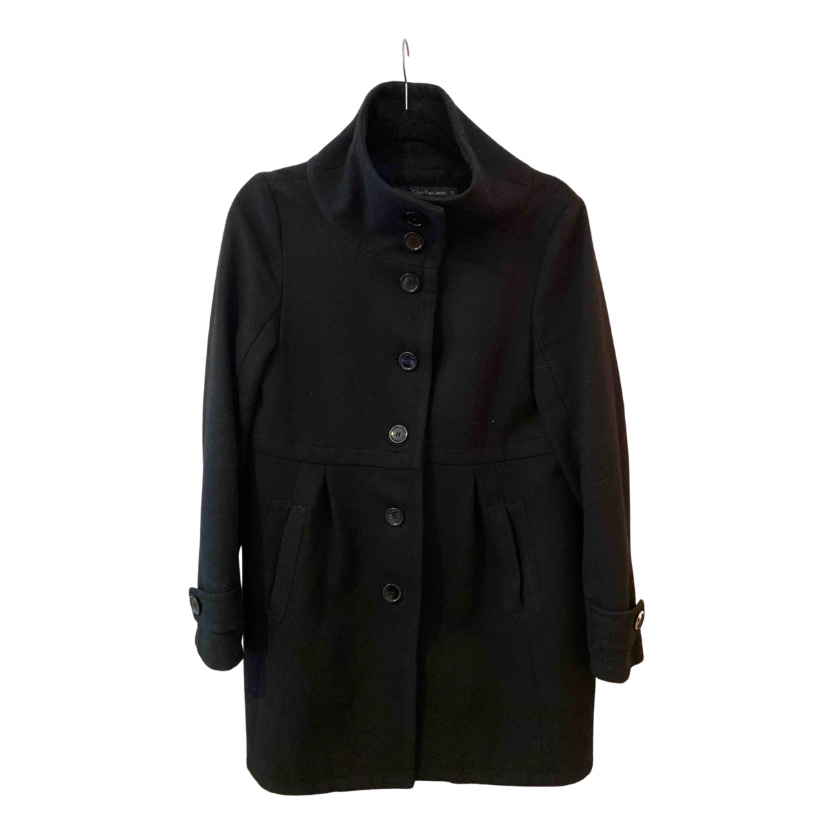 Calvin Klein - Manteau   pour femme en laine - noir