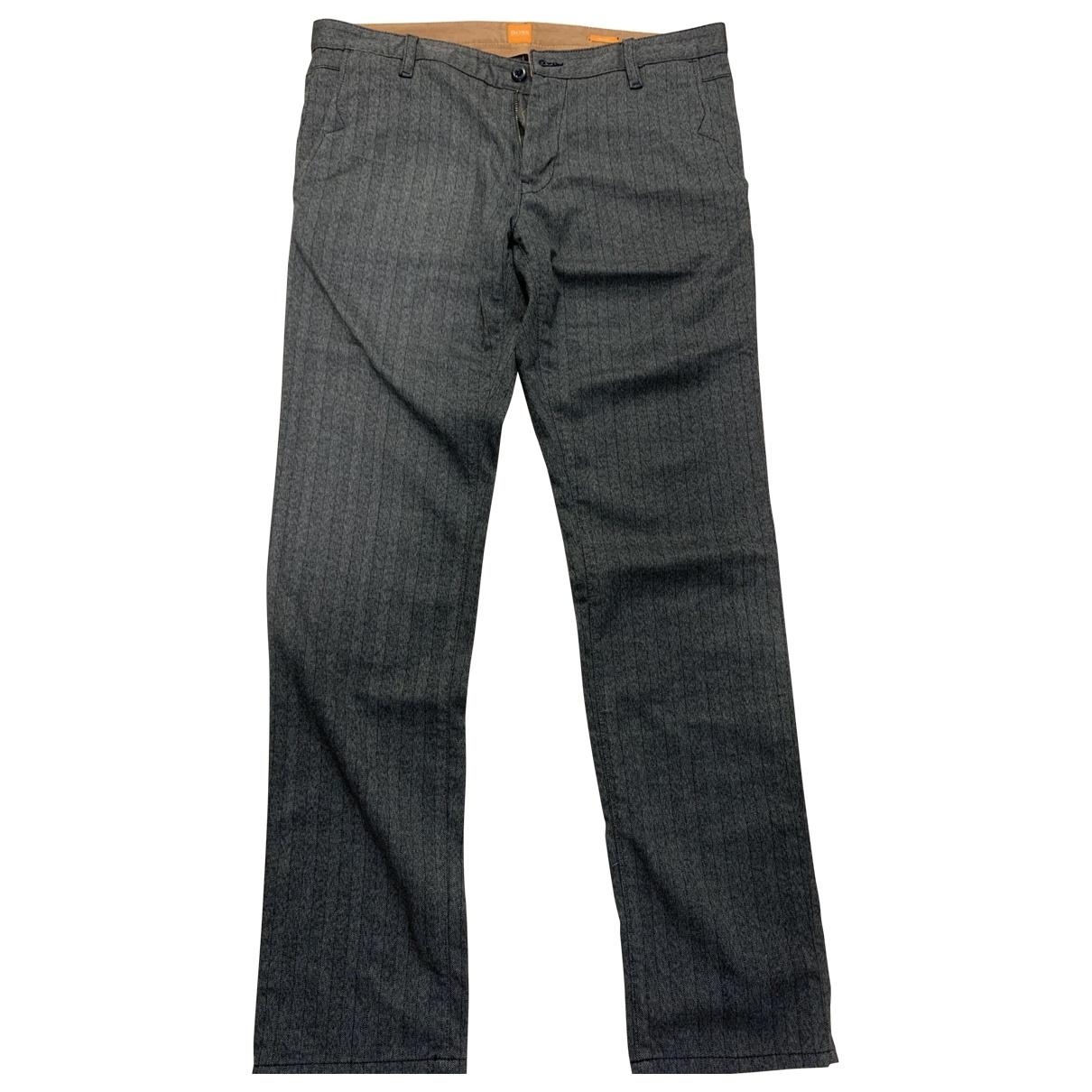 Pantalones en Algodon Gris Boss