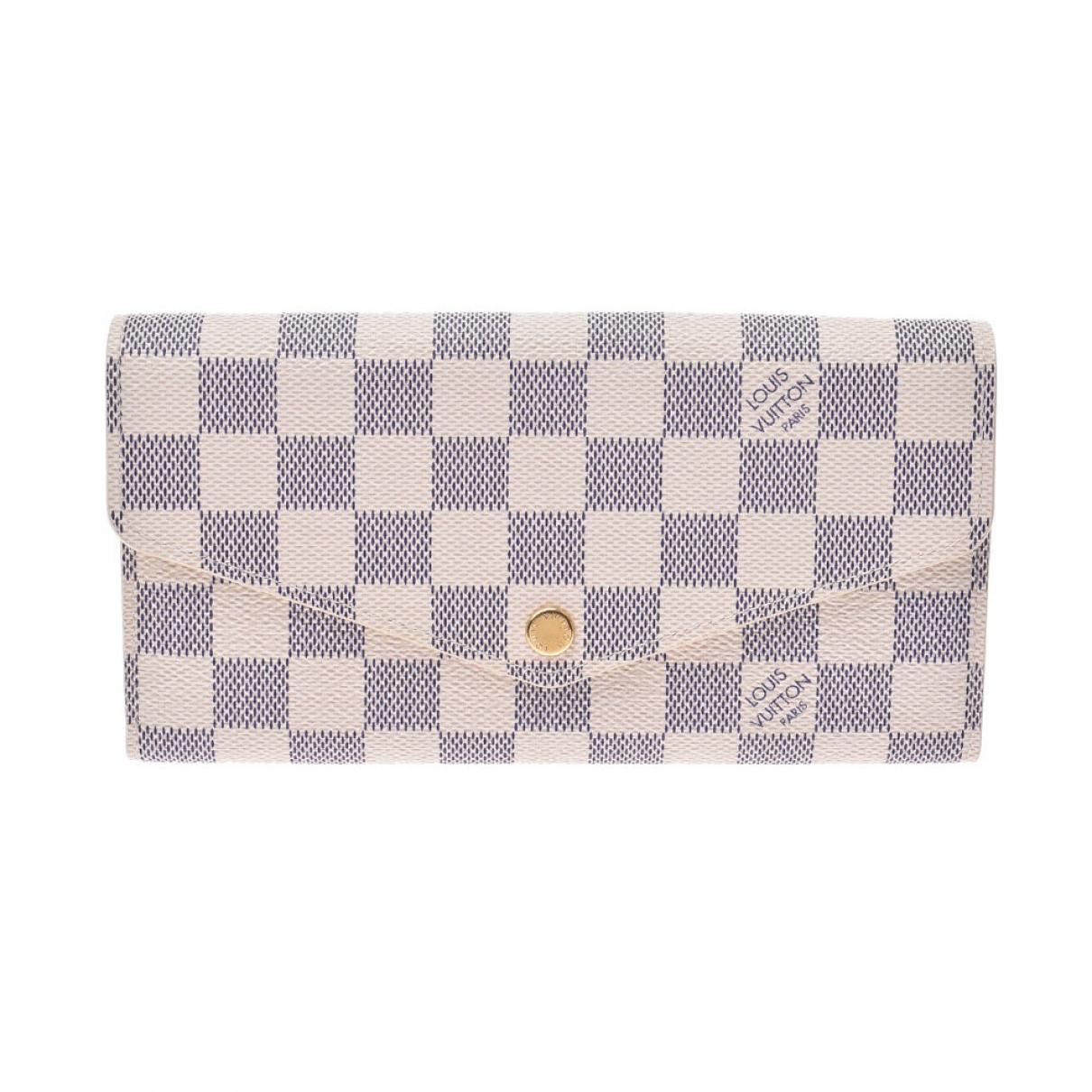Louis Vuitton - Portefeuille Sarah pour femme en toile - blanc