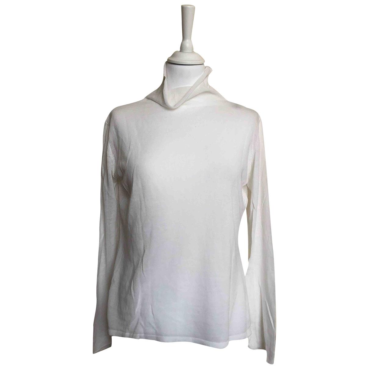 Brunello Cucinelli - Pull   pour femme en coton - blanc