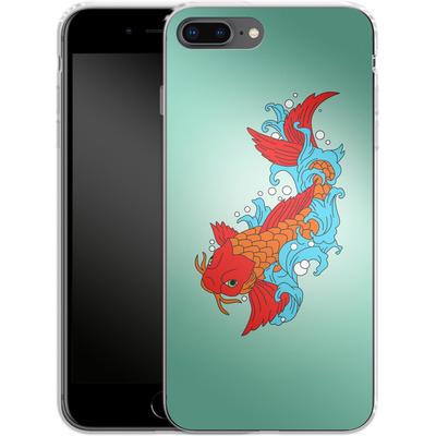 Apple iPhone 8 Plus Silikon Handyhuelle - Koi Carp von Mark Ashkenazi