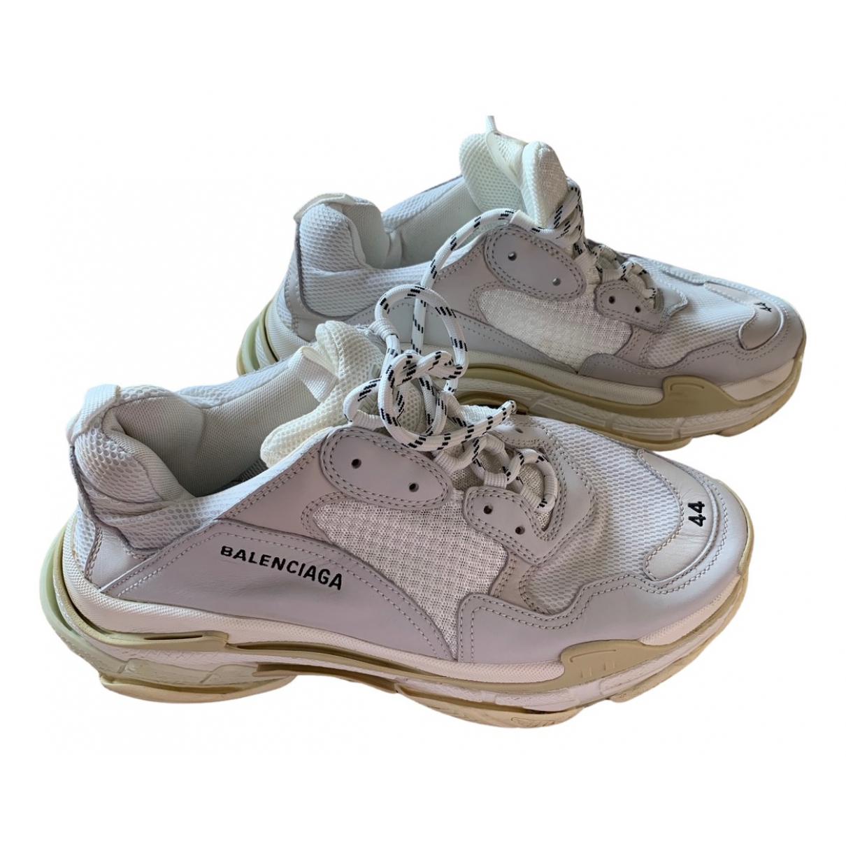 Balenciaga - Baskets Triple S pour homme - blanc