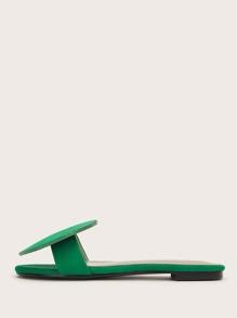 Geometric Decor Slide Sandals