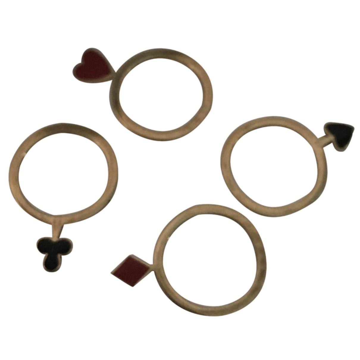 Moschino - Bague   pour femme en metal - dore