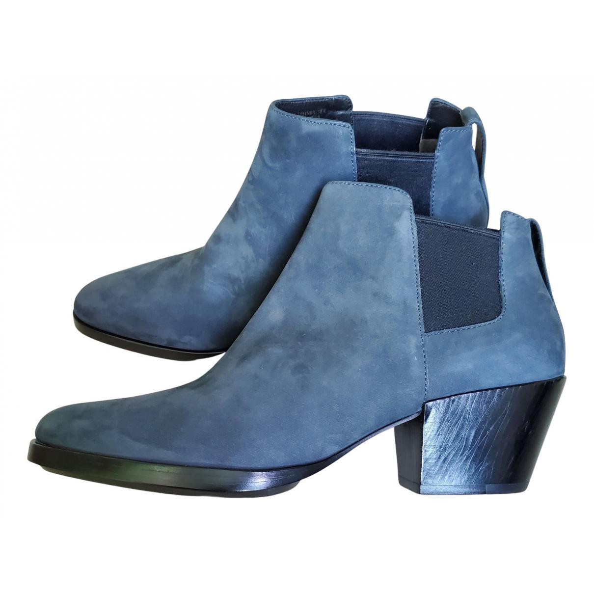 3.1 Phillip Lim - Boots   pour femme en suede - bleu