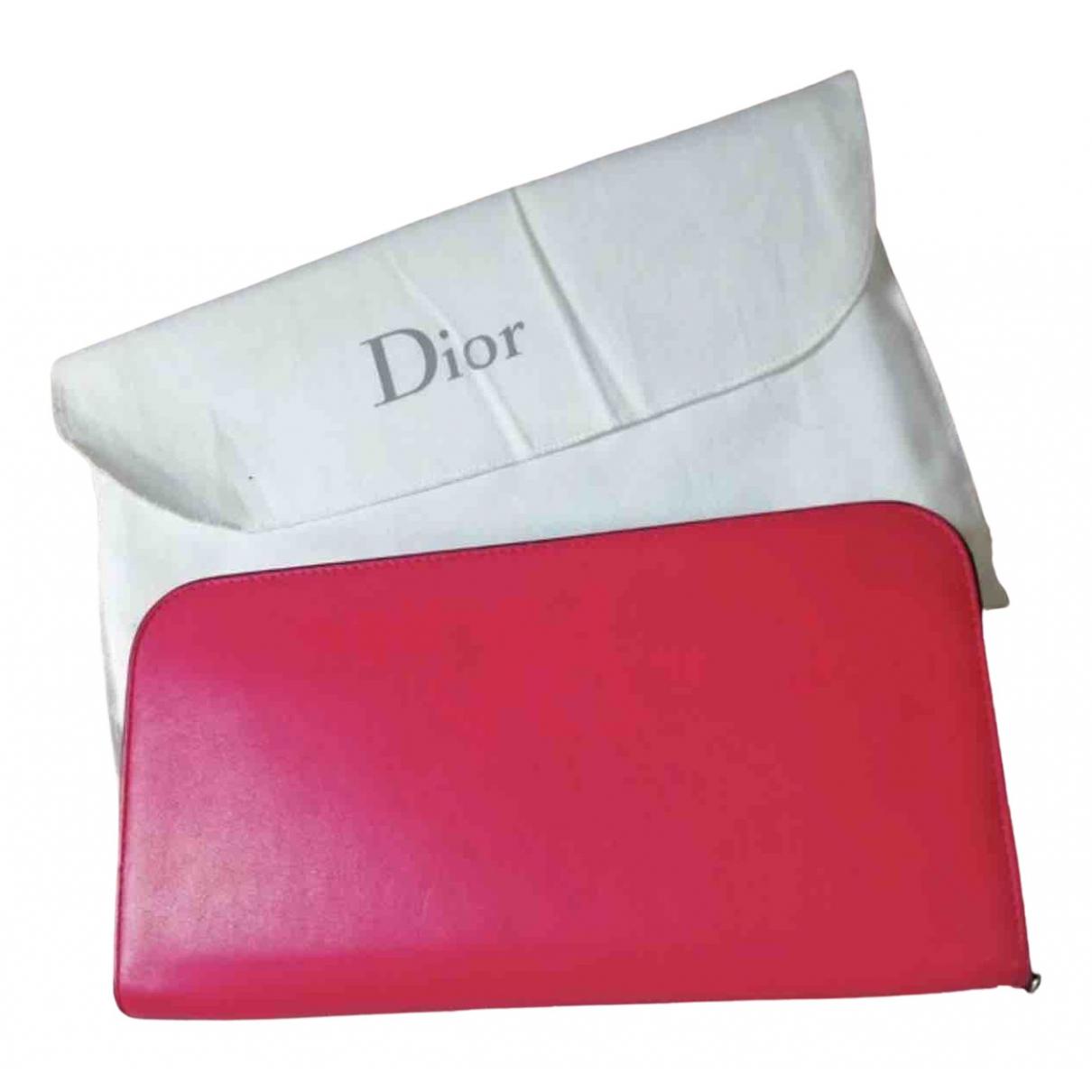 Dior - Portefeuille Diorissimo pour femme en cuir - rose