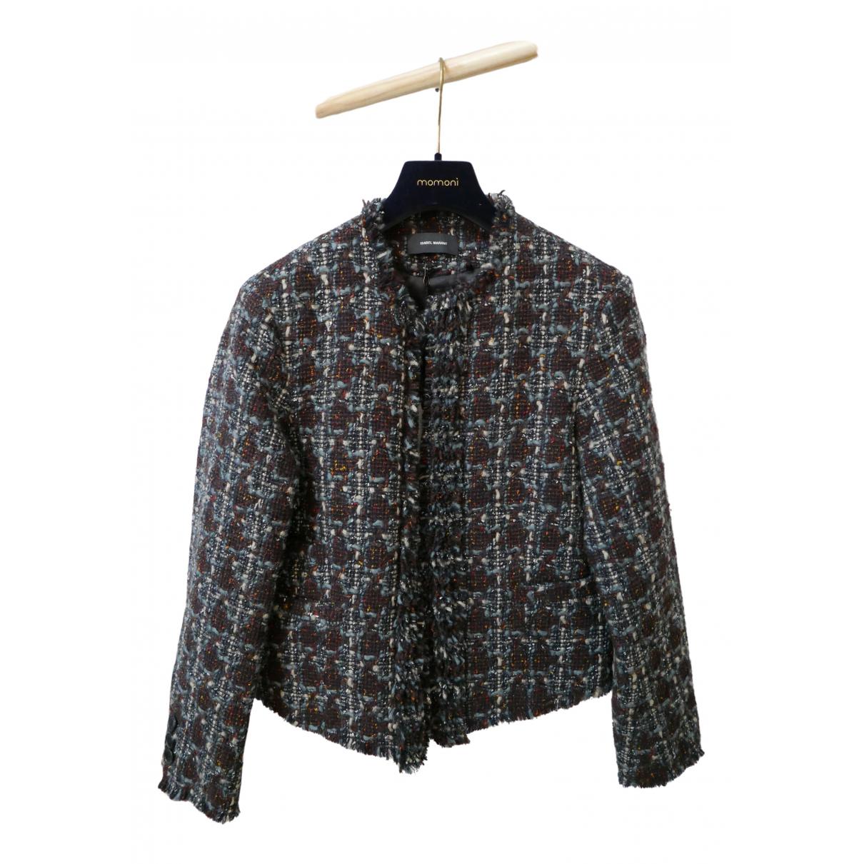 Isabel Marant - Veste   pour femme en laine - bordeaux